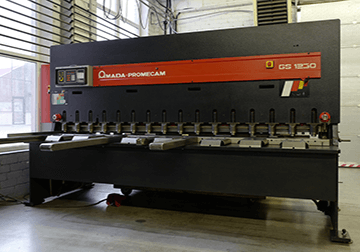 NC sheet shears: AMADA-GS1230